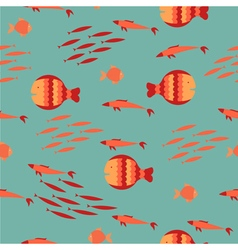 Sea fish pattern vector