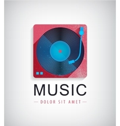 Retro music logo icon vector