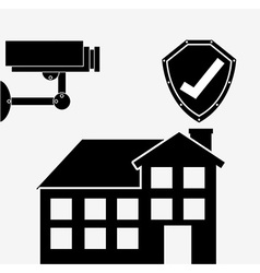 Secure property design vector