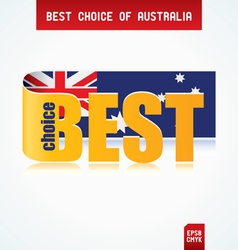 best choice of australia vector image