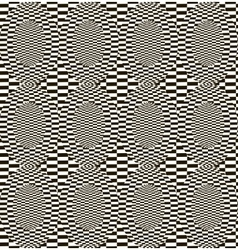 Abstract monochrome checkered pattern vector