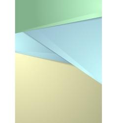Abstract tech geometric flyer design vector