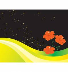 an abstract background with flowers vector image