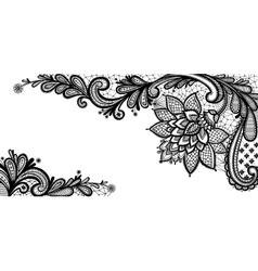 Black lace design vector image vector image