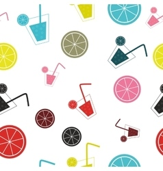 citrus Cocktail seamless pattern background vector image vector image