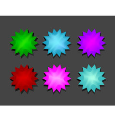 color stars vector image