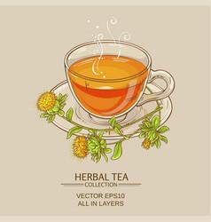 cup of safflower tea vector image vector image
