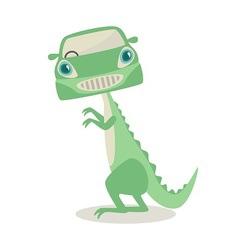 Dino mobile vector