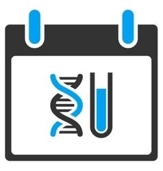 Dna analysis calendar day toolbar icon vector