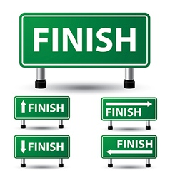 Finish sign vector