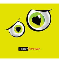 funny card smile eyes vector image