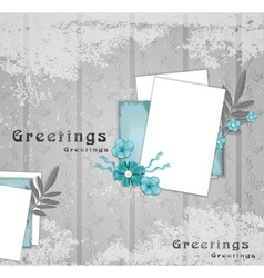 greeting background vector image vector image