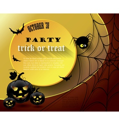 Halloween party poster vector