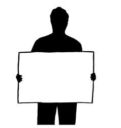 High quality of a man with a placard vector image