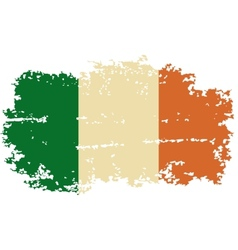 Irish grunge flag vector