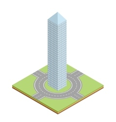 Isometric building icon vector image