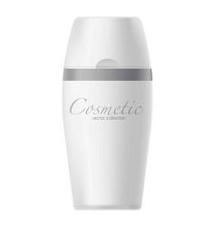 Jar with cosmetics vector