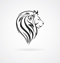Lion head logo design mock up template set vector