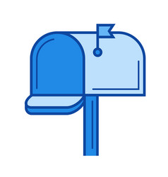mail box line icon vector image