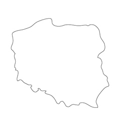 Map poland vector