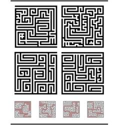 Maze game set vector