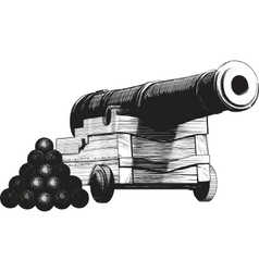 Navy cannon vector