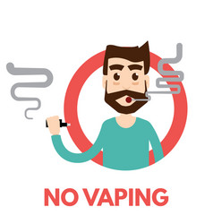 no vaping icon vector image