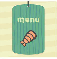 Outline sushi shrimp japan food icon modern logo vector