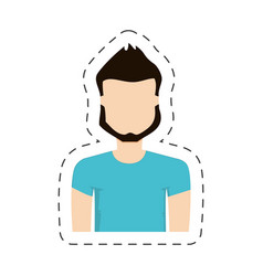 Portrait character man male vector