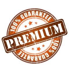 Premium guarantee stamp vector