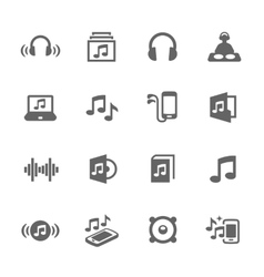 Simple Sound Icons vector image vector image
