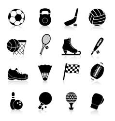 Sport icons black vector