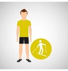 sport man concept skiing icon design vector image vector image