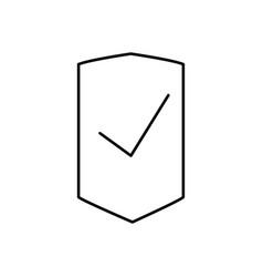success shield icon vector image