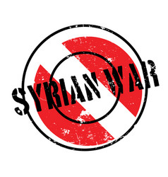 Syrian war rubber stamp vector