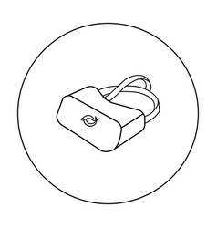 Virtual reality glasses icon in outline style vector