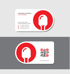 White business card with red light emitted diode vector