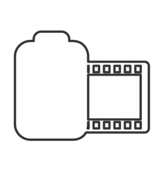 roll camera photographic isolated icon vector image