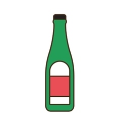 Bottle alcohol drink beverage icon vector