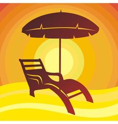 Beach sun vector image