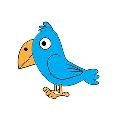 cute standing bird vector image