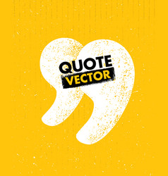 Quote sign icon quotation mark rough vector