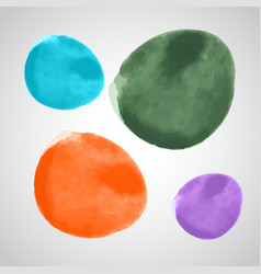 different watercolor elements collection vector image