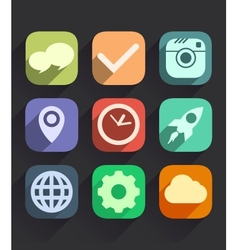 Set of flat icons for web and mobile apps vector