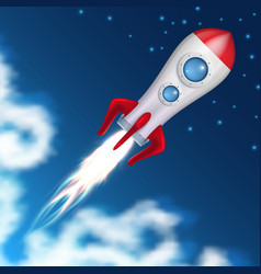 Space rocket take off science spaceship launch vector