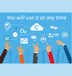 Technologysystem cloud vector
