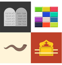 Old testament icons set vector