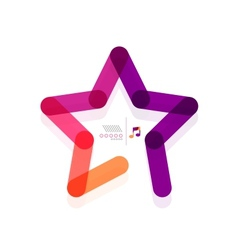 Star abstract geometric shape concept vector