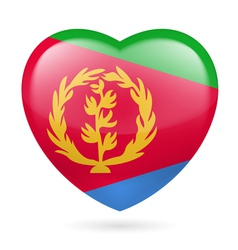 Heart icon of eritrea vector