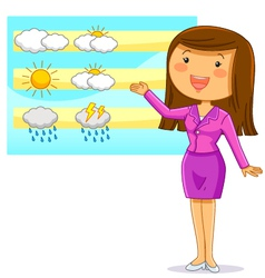 weather reporter vector image
